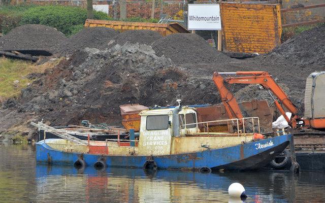 "The ""Slemish"", River Lagan, Belfast (1)"