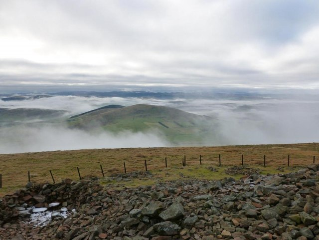 Misty view from Tinto summit