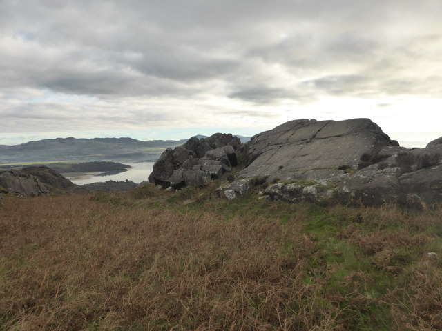 The site of the rock cannon on Moel-y-Gest