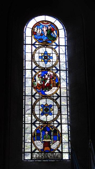 St. Andrew's Church, Newgate Street, NE1 - stained glass window, Lady Chapel (2)