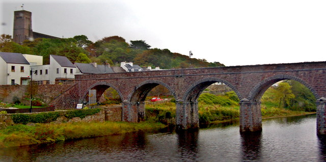 Newport - County Mayo - Seven Arch Railway Viaduct over Black Oak River