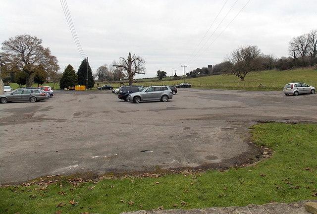 Spacious hotel car park in Old Sodbury