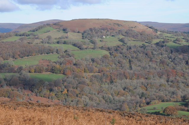 Gaer viewed from across the valley