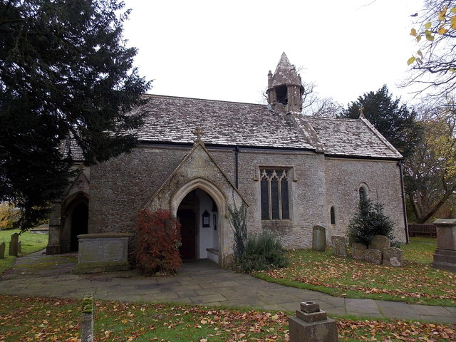 Entrance to St Mary's church, Acton Turville