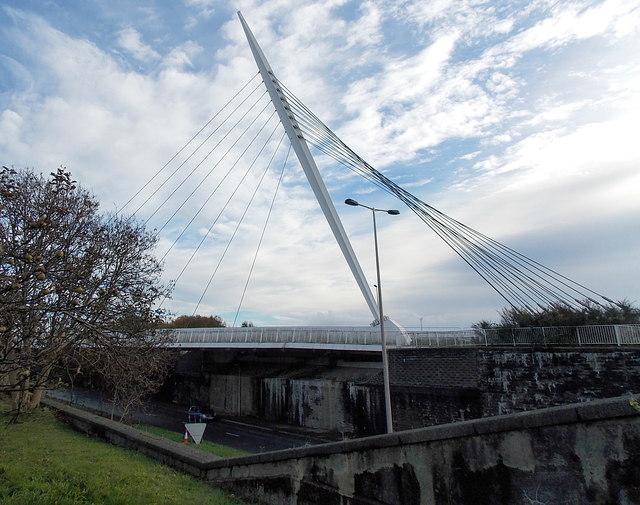 Fabian Way footbridge, Swansea