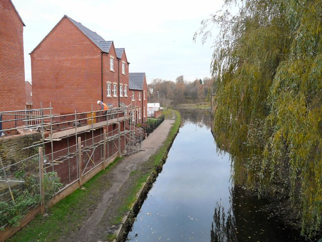 New houses by the canal