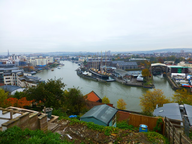 SS Great Britain from viewpoint at Southernhay Avenue