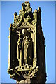 SO2722 : Top of preaching cross, Partrishow church by Philip Halling
