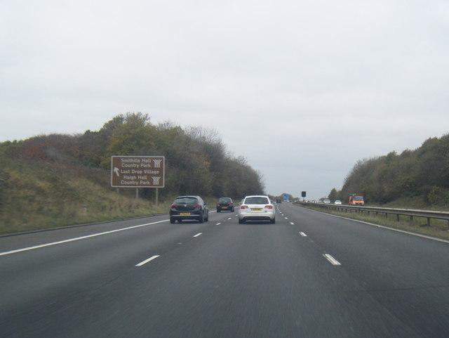 M61 north of Over Hulton