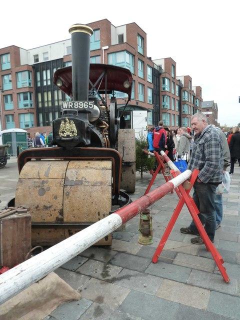 Gloucester Docks - steam roller