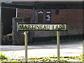 TG2306 : Martineau Lane sign by Adrian Cable