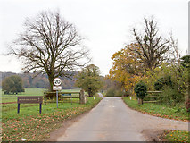 SP2853 : Private driveway to Walton Hall by David P Howard