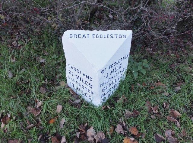 Milestone on Raikes Road, Great Eccleston