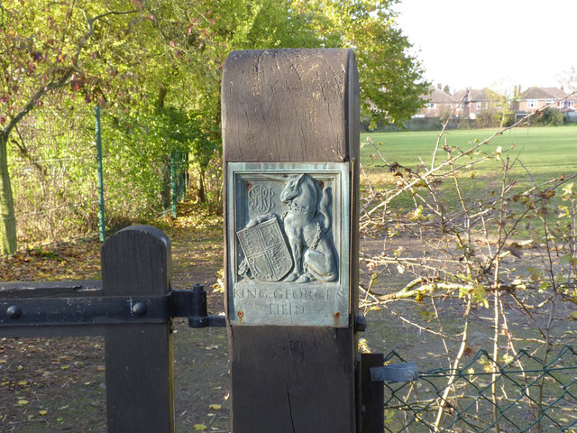 King George's Field, Queniborough - Unicorn panel