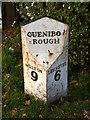 SK6312 : Queniborough milestone by Alan Murray-Rust