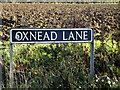 TM2693 : Oxnead Lane sign by Adrian Cable