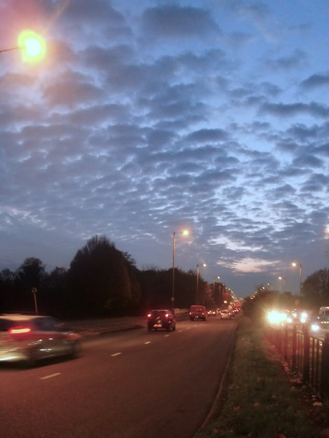 The A316 in the evening rush hour
