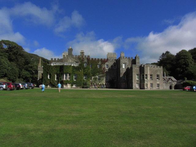 Hartland Abbey, W front & lawn