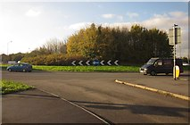 ST6677 : Lyde Green roundabout by Derek Harper