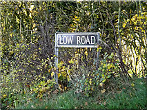 TM2692 : Low Road sign by Adrian Cable