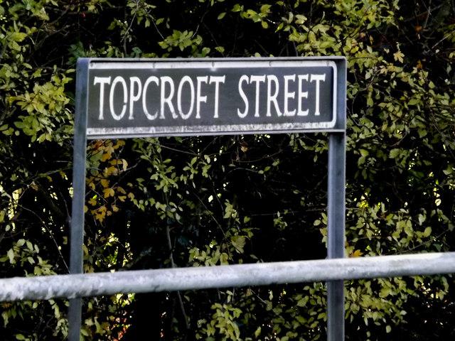 Topcroft Street sign