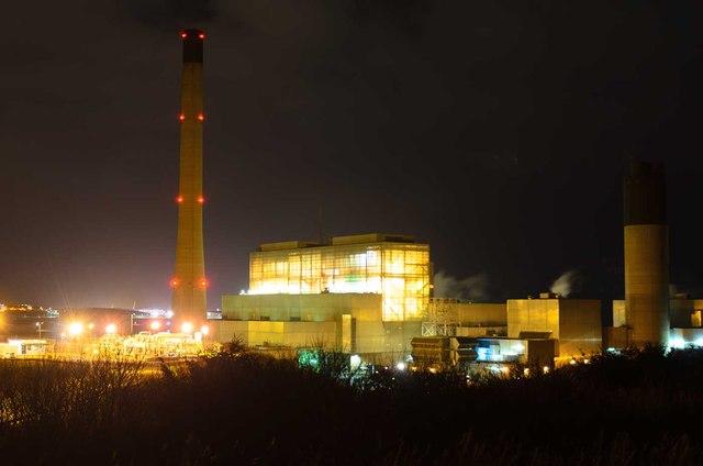 Peterhead Power Station at Night