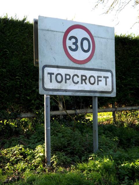 Topcroft Village Name sign