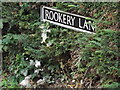 TM2692 : Rookery Lane sign by Adrian Cable