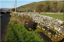 SD9772 : Benches on Conistone Lane, Kettlewell by Ian S