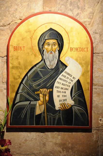 Icon of St Benedict, Tewkesbury Abbey