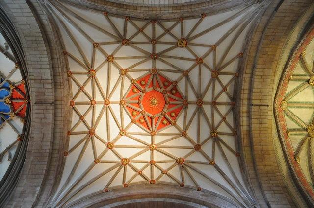 Ceiling of Tewkesbury Abbey