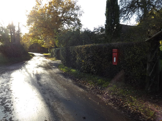 School Road & The Green Postbox