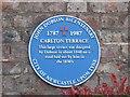 NZ2565 : Blue plaque re John Dobson, Carlton Terrace, Jesmond Road West, NE2 by Mike Quinn