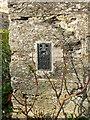 SH5800 : OS Flush Bracket S0342 - Tywyn, St Cadfan's church by Richard Law