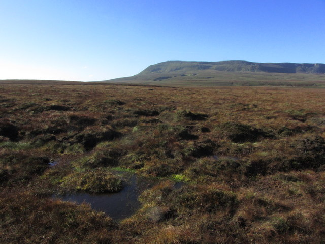 View across blanket bog towards the northern side of Cuilcagh