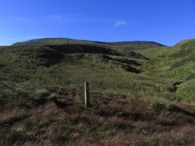 On Ulster Way at Altscraghy on northern slopes of Cuilcagh