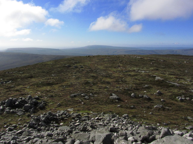 On the summit of Cuilcagh - View SW down SW ridge