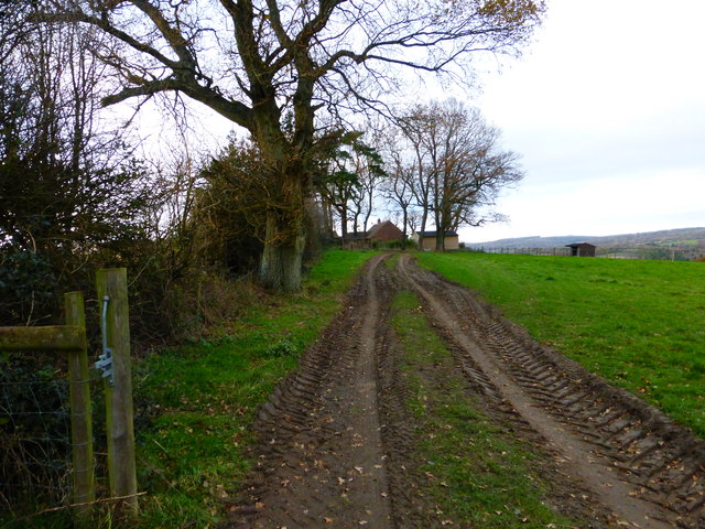 Approaching Bow Hill Farm from the south east