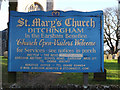 TM3292 : St.Mary's Church sign by Adrian Cable