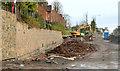 J3683 : Road construction, Jordanstown (5) by Albert Bridge