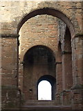 SP2772 : Kenilworth: castle keep arches by Chris Downer