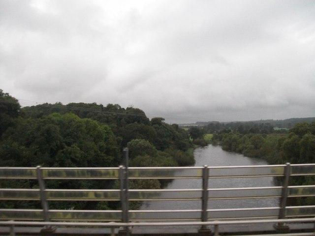 The Boyne River upstream of the Mary McAleese Bridge