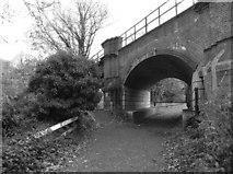 SU9777 : Black Potts railway bridge by Eirian Evans