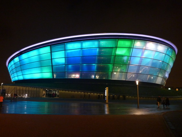 Glasgow Architecture : The Hydro Arena At Night