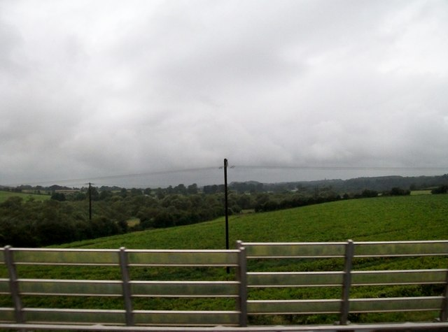 Farmland in the Boyne Valley upriver of the Mary McAleese Bridge