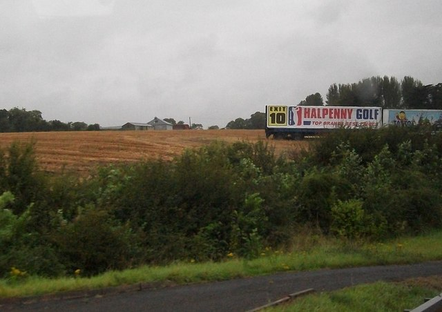 Hoarding trailers above the M1 at Claristown, Co Meath