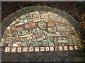 NY0731 : Mosaic, Broughton by Graham Robson