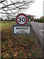 TM3775 : Walpole Village Name sign by Adrian Cable