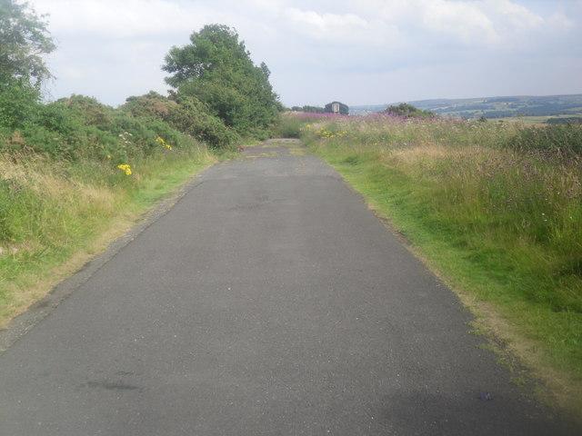 Former A68 near Carterway Heads