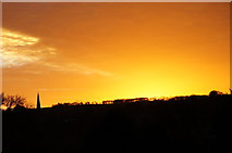 SK2168 : Dusk, Bakewell, with church spire (2) by Peter Barr